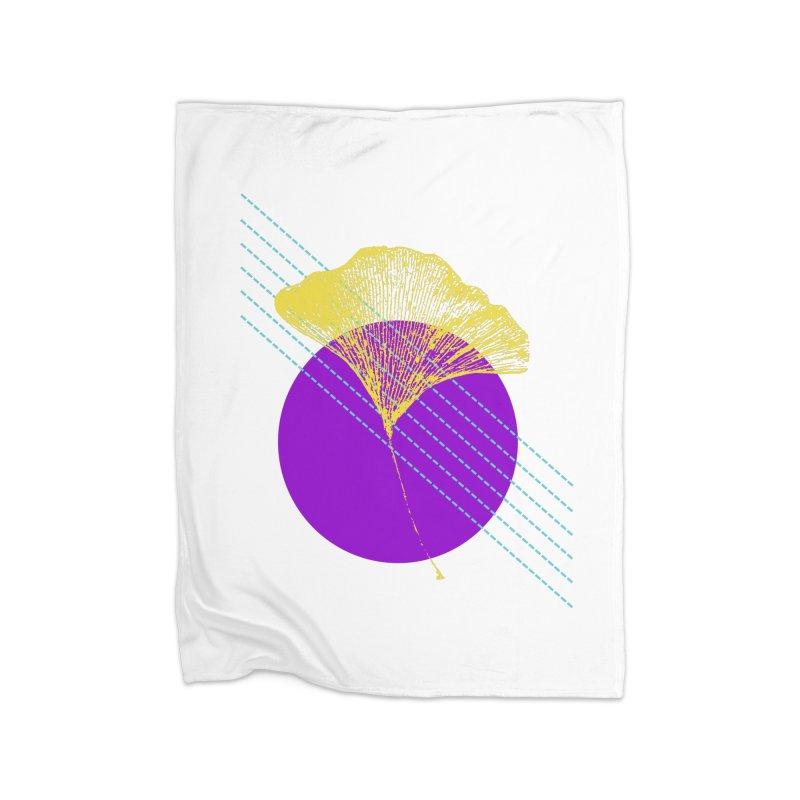 Ginkgo Leaf #2 Home Fleece Blanket Blanket by LadyBaigStudio's Artist Shop