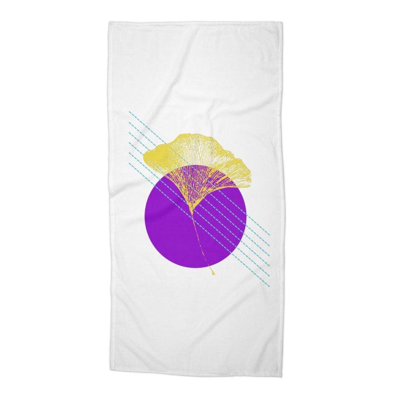 Ginkgo Leaf #2 Accessories Beach Towel by LadyBaigStudio's Artist Shop