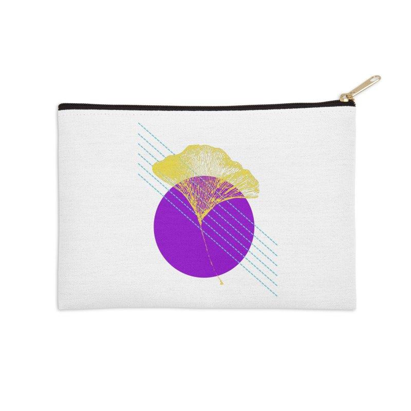 Ginkgo Leaf #2 Accessories Zip Pouch by LadyBaigStudio's Artist Shop