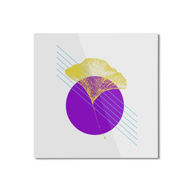 Ginkgo Leaf #2 Home Mounted Aluminum Print by LadyBaigStudio's Artist Shop