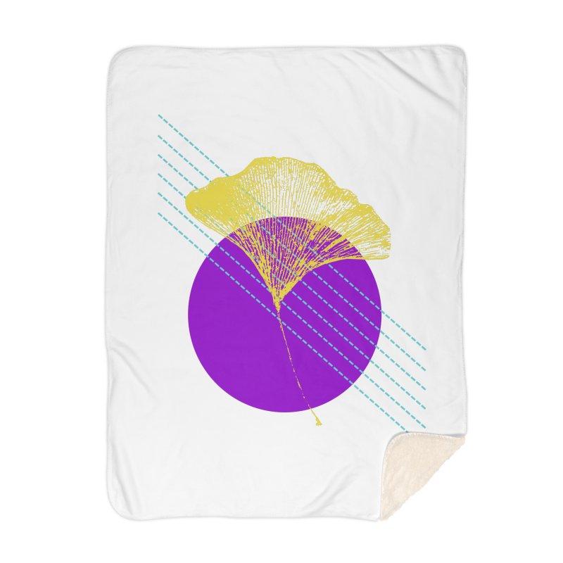 Ginkgo Leaf #2 Home Blanket by LadyBaigStudio's Artist Shop