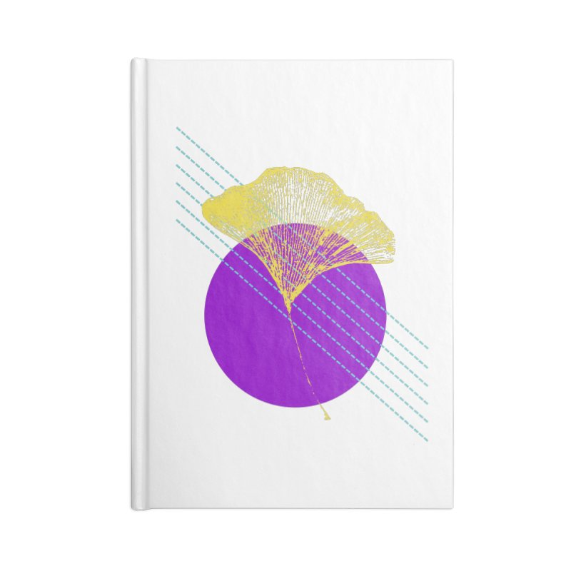 Ginkgo Leaf #2 Accessories Lined Journal Notebook by LadyBaigStudio's Artist Shop