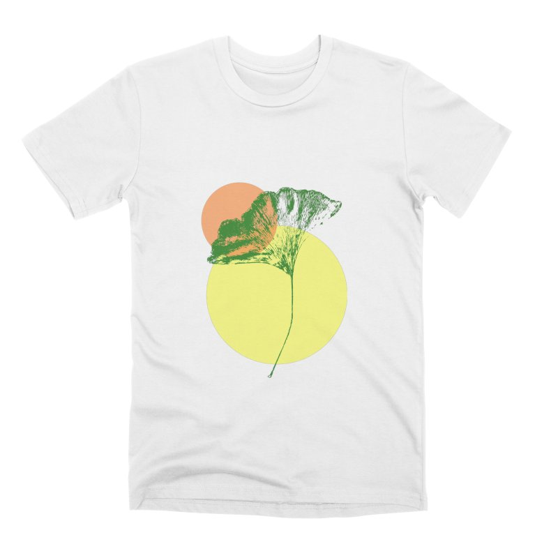Ginkgo Leaf #3 Men's Premium T-Shirt by LadyBaigStudio's Artist Shop