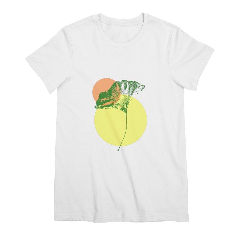 Ginkgo Leaf #3 Women's Premium T-Shirt by LadyBaigStudio's Artist Shop