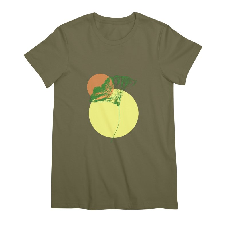 Ginkgo Leaf #3 Women's Premium T-Shirt by LadyBaigStudio's Artist Shop
