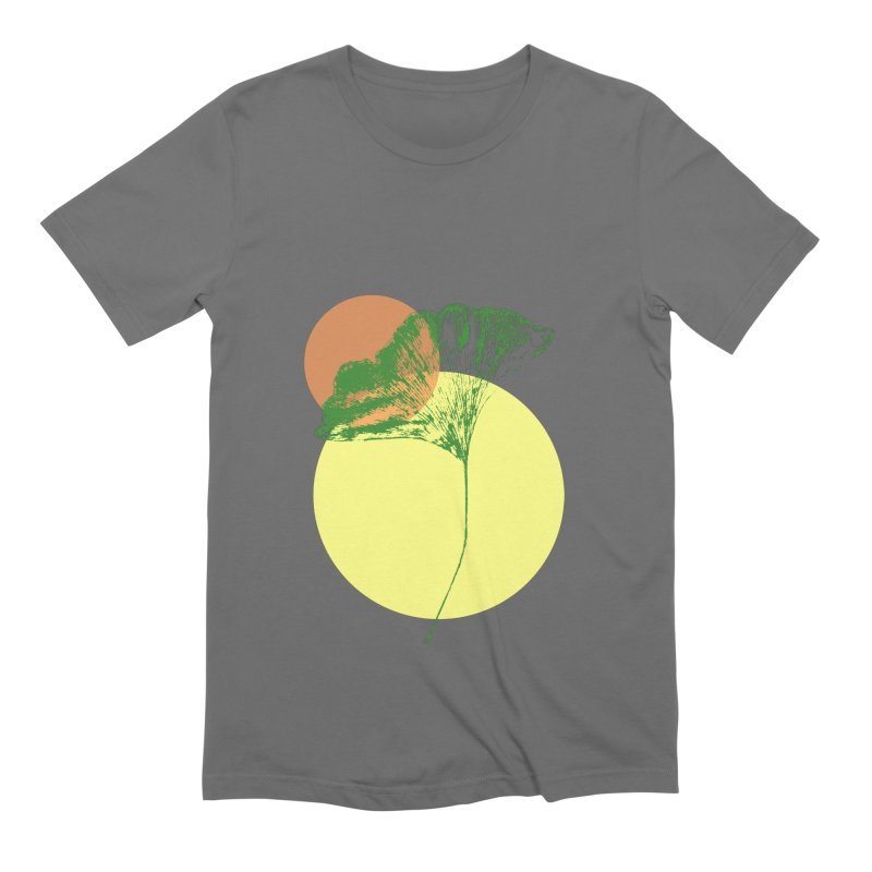 Ginkgo Leaf #3 Men's T-Shirt by LadyBaigStudio's Artist Shop