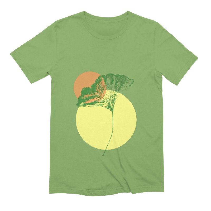 Ginkgo Leaf #3 Men's Extra Soft T-Shirt by LadyBaigStudio's Artist Shop