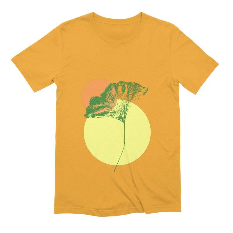 Ginkgo Leaf #3 Men's Extra Soft T-Shirt by LadyBaigStudio's Artist Shop