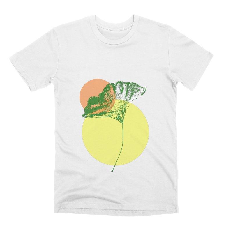 Ginkgo Leaf #3 Men's Premium T-Shirt by LadyBaigStudio's Artist Shop