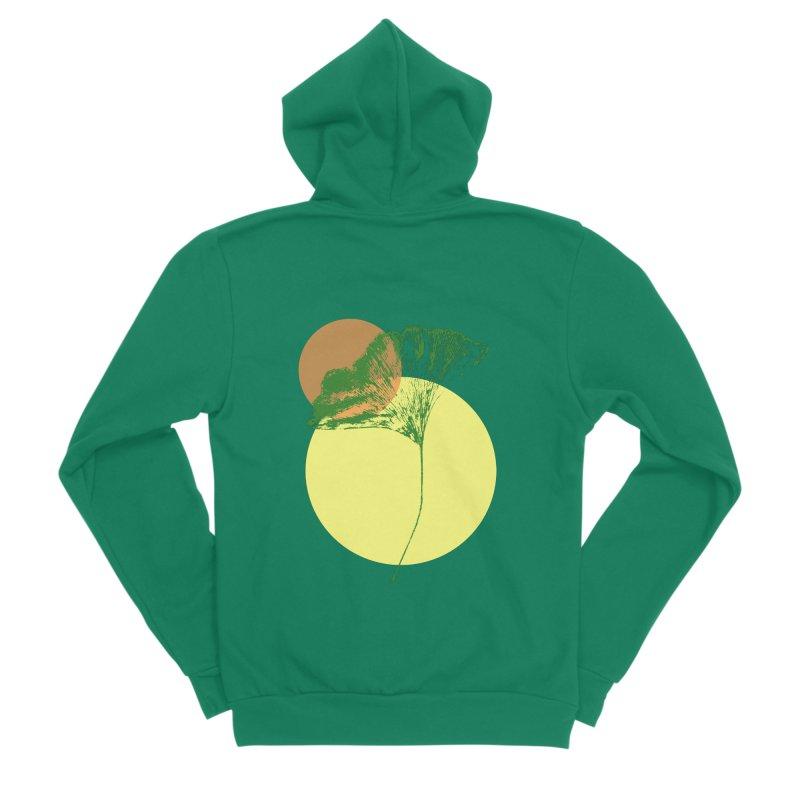 Ginkgo Leaf #3 Men's Sponge Fleece Zip-Up Hoody by LadyBaigStudio's Artist Shop