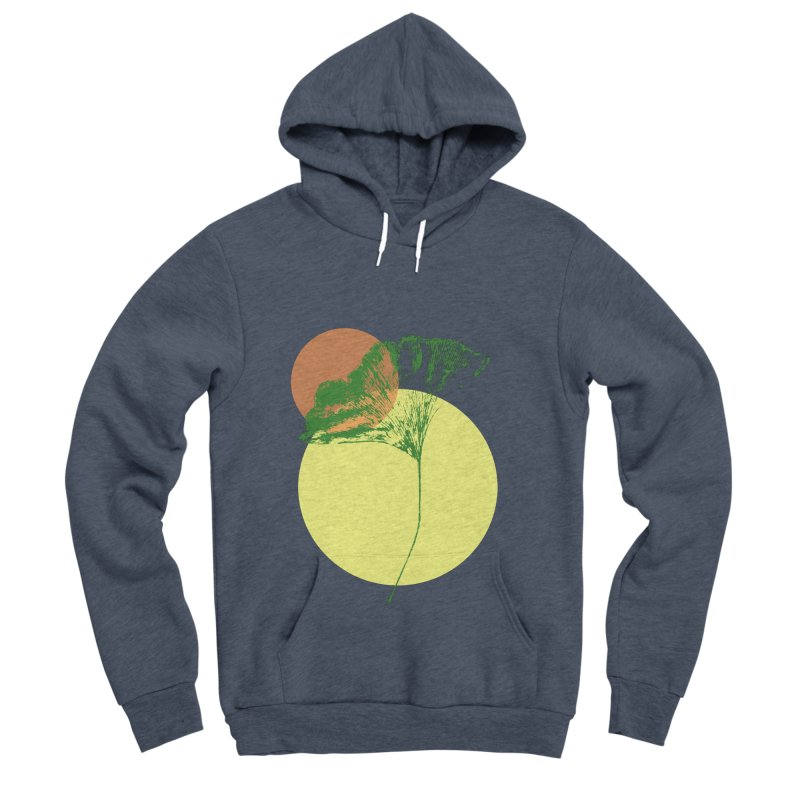 Ginkgo Leaf #3 Women's Sponge Fleece Pullover Hoody by LadyBaigStudio's Artist Shop