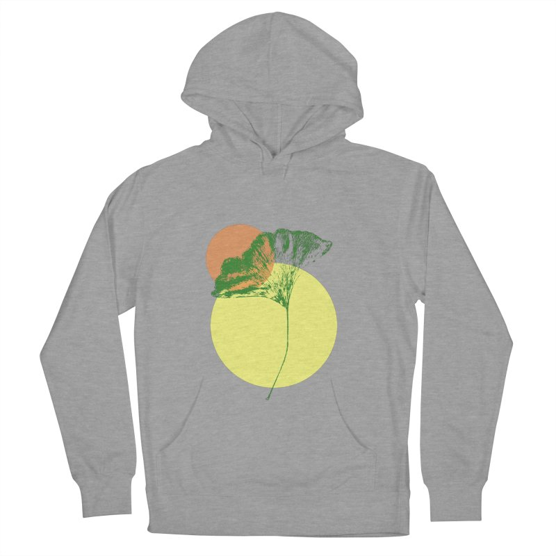 Ginkgo Leaf #3 Men's French Terry Pullover Hoody by LadyBaigStudio's Artist Shop