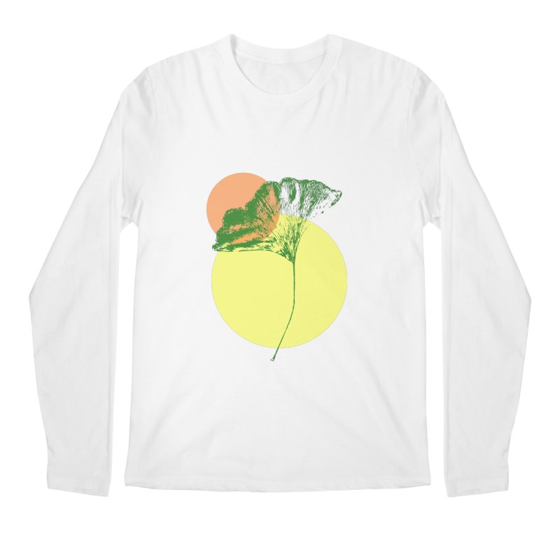 Ginkgo Leaf #3 Men's Regular Longsleeve T-Shirt by LadyBaigStudio's Artist Shop