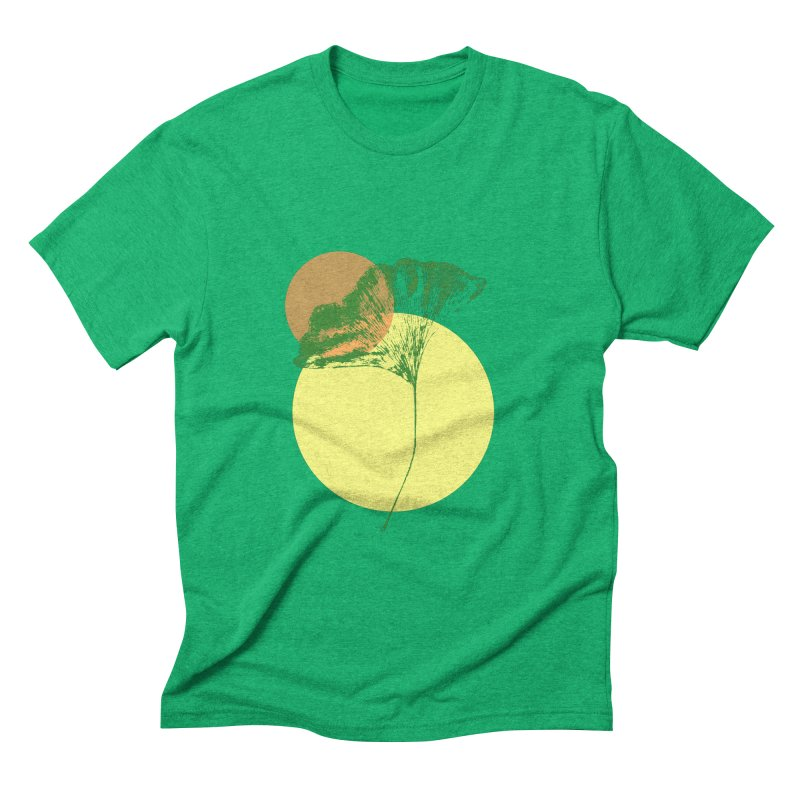 Ginkgo Leaf #3 Men's Triblend T-Shirt by LadyBaigStudio's Artist Shop