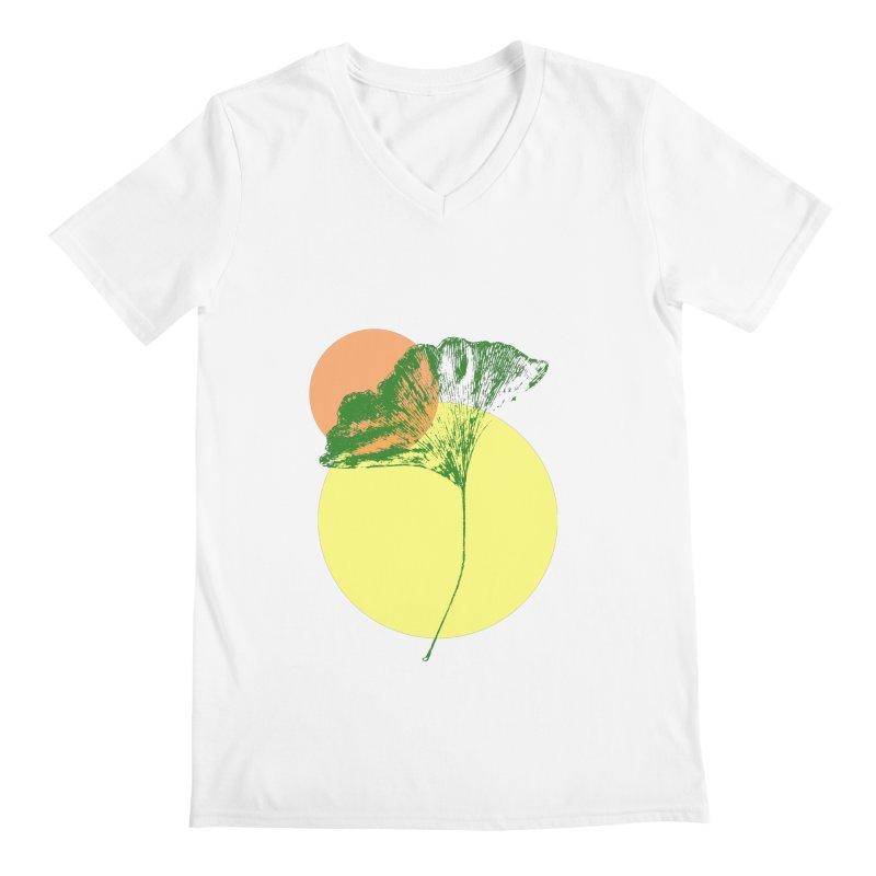 Ginkgo Leaf #3 Men's Regular V-Neck by LadyBaigStudio's Artist Shop
