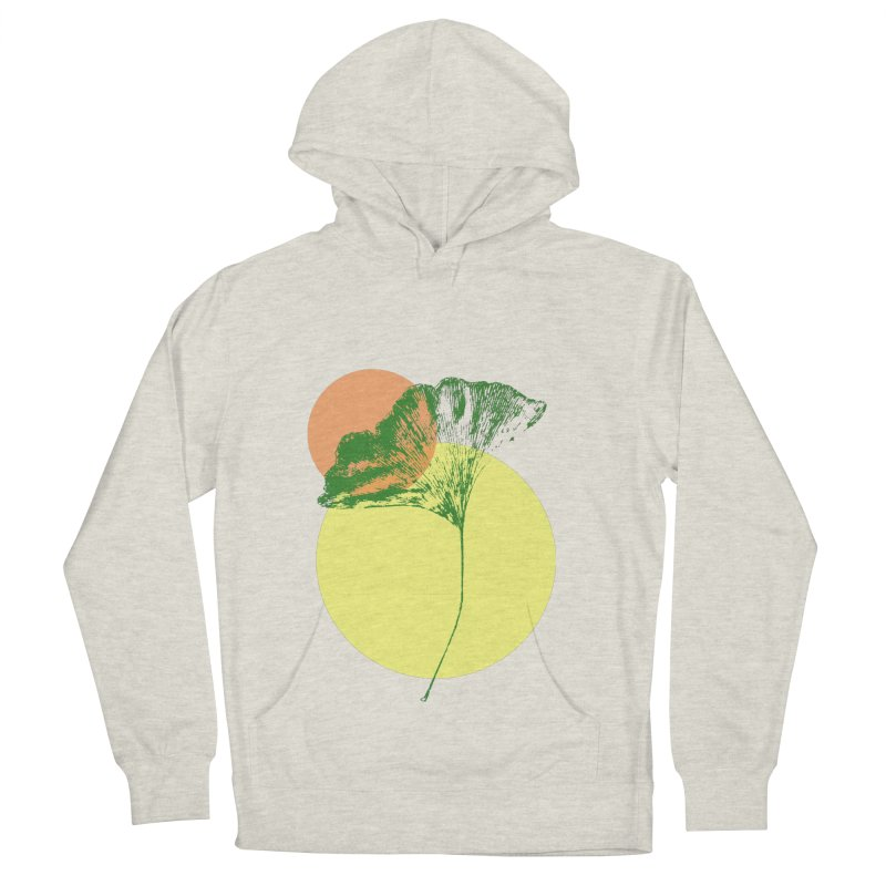 Ginkgo Leaf #3 Women's French Terry Pullover Hoody by LadyBaigStudio's Artist Shop