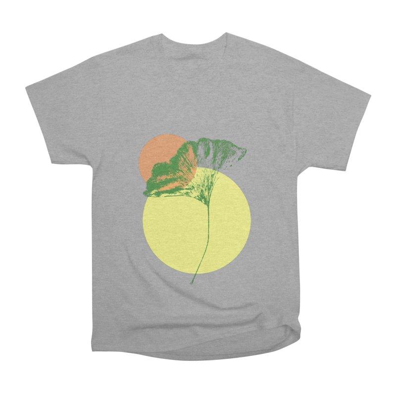 Ginkgo Leaf #3 Men's Heavyweight T-Shirt by LadyBaigStudio's Artist Shop