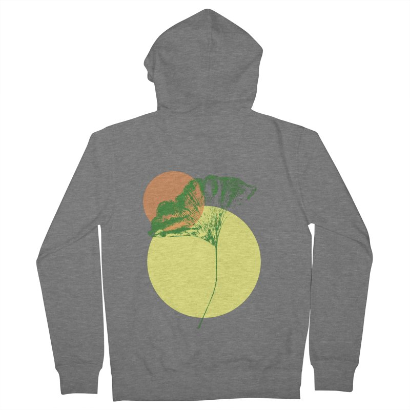 Ginkgo Leaf #3 Women's French Terry Zip-Up Hoody by LadyBaigStudio's Artist Shop