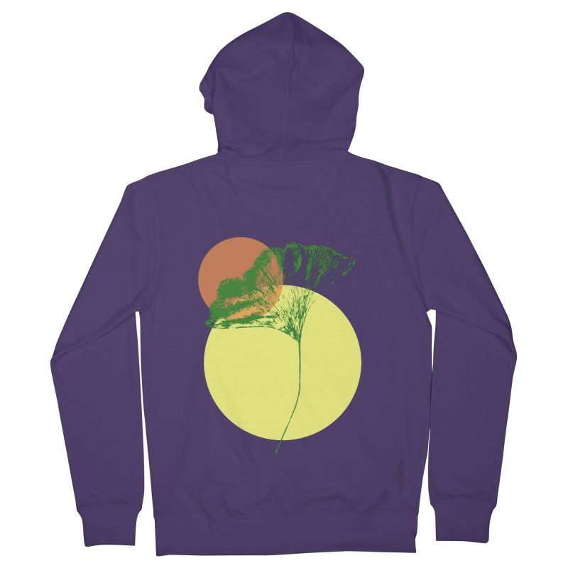 Ginkgo Leaf #3 Women's Zip-Up Hoody by LadyBaigStudio's Artist Shop