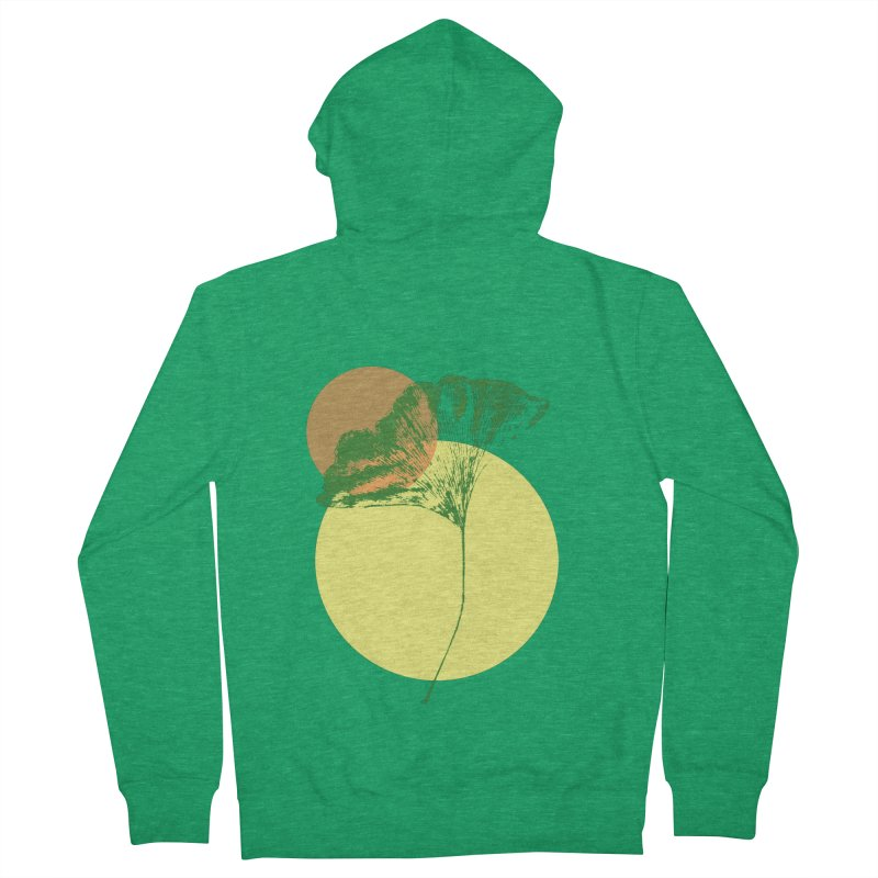 Ginkgo Leaf #3 Men's Zip-Up Hoody by LadyBaigStudio's Artist Shop