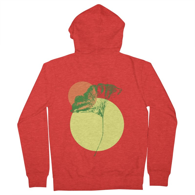 Ginkgo Leaf #3 Men's Zip-Up Hoody by LadyBaigStudio's Artist Shop