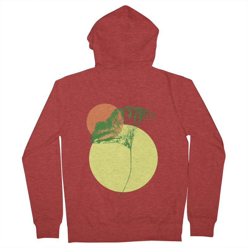 Ginkgo Leaf #3 Men's French Terry Zip-Up Hoody by LadyBaigStudio's Artist Shop