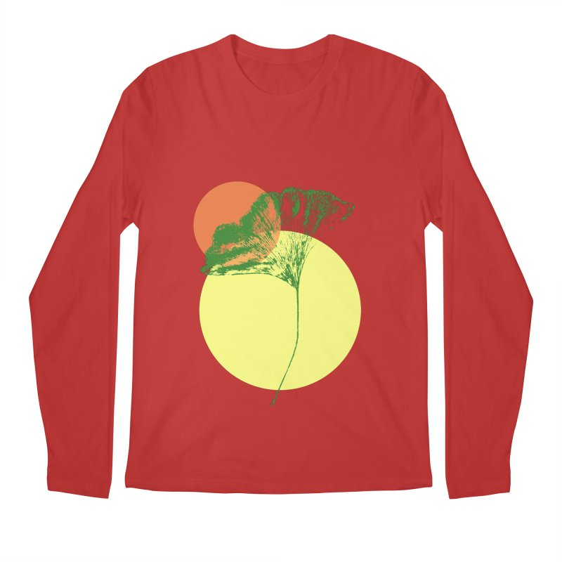 Ginkgo Leaf #3 Men's Longsleeve T-Shirt by LadyBaigStudio's Artist Shop
