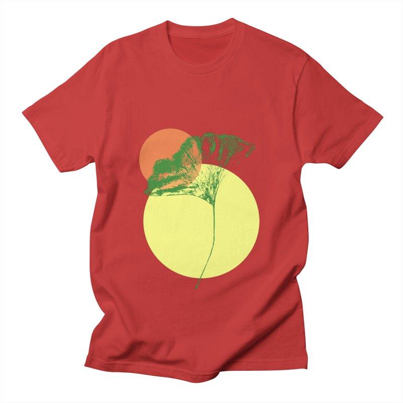 Ginkgo Leaf #3 Men's Regular T-Shirt by LadyBaigStudio's Artist Shop