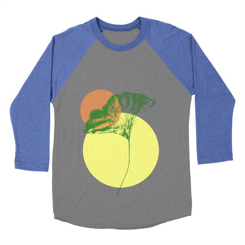 Ginkgo Leaf #3 Men's Baseball Triblend Longsleeve T-Shirt by LadyBaigStudio's Artist Shop