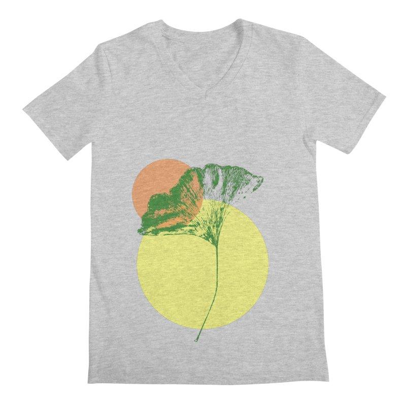 Ginkgo Leaf #3 Men's V-Neck by LadyBaigStudio's Artist Shop