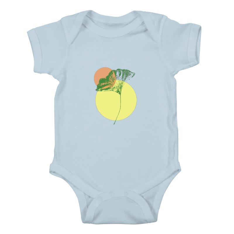 Ginkgo Leaf #3 Kids Baby Bodysuit by LadyBaigStudio's Artist Shop