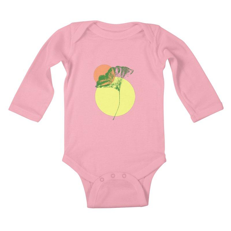 Ginkgo Leaf #3 Kids Baby Longsleeve Bodysuit by LadyBaigStudio's Artist Shop
