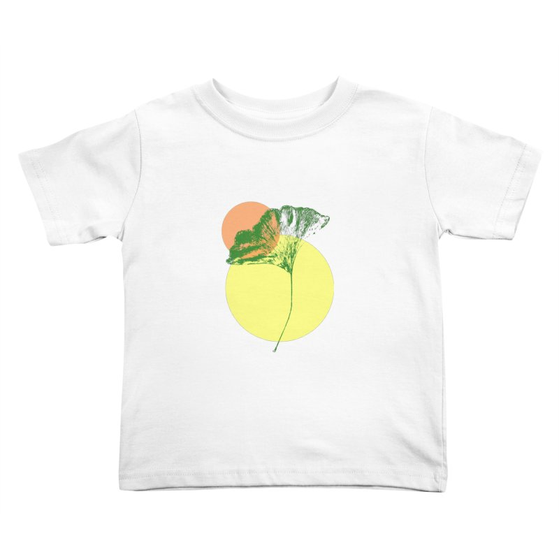 Ginkgo Leaf #3 Kids Toddler T-Shirt by LadyBaigStudio's Artist Shop
