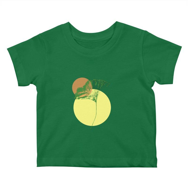 Ginkgo Leaf #3 Kids Baby T-Shirt by LadyBaigStudio's Artist Shop