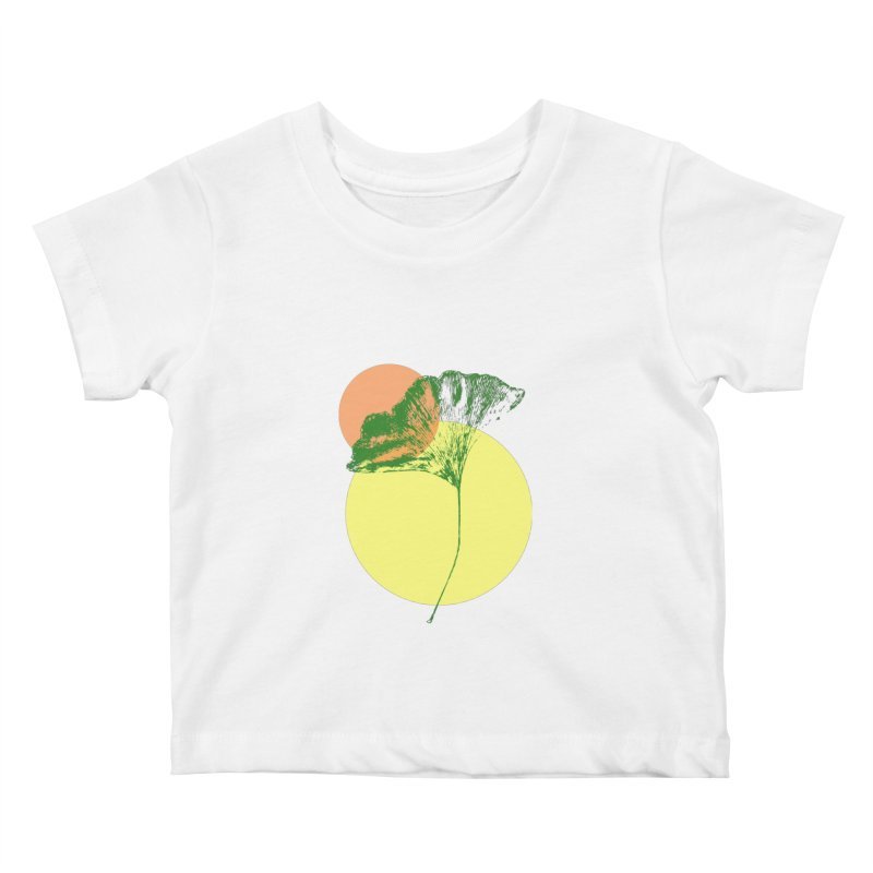 Ginkgo Leaf #3 Kids Baby T-Shirt by LadyBaigStudio's Artist Shop