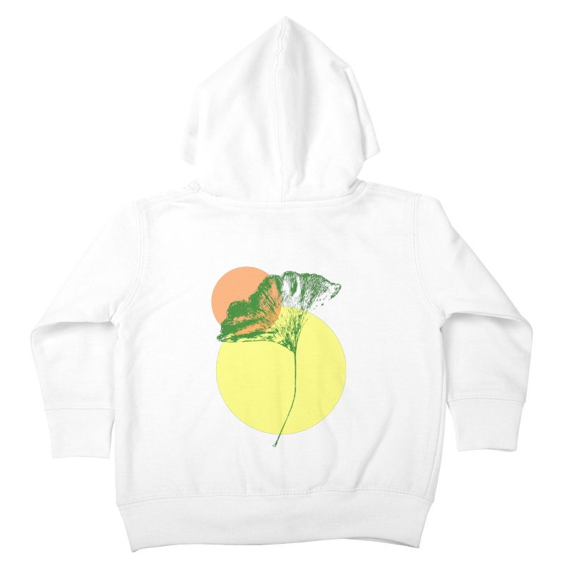 Ginkgo Leaf #3 Kids Toddler Zip-Up Hoody by LadyBaigStudio's Artist Shop
