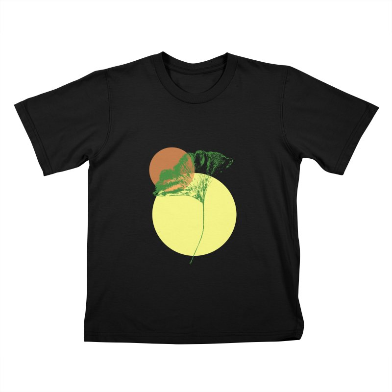 Ginkgo Leaf #3 Kids T-Shirt by LadyBaigStudio's Artist Shop