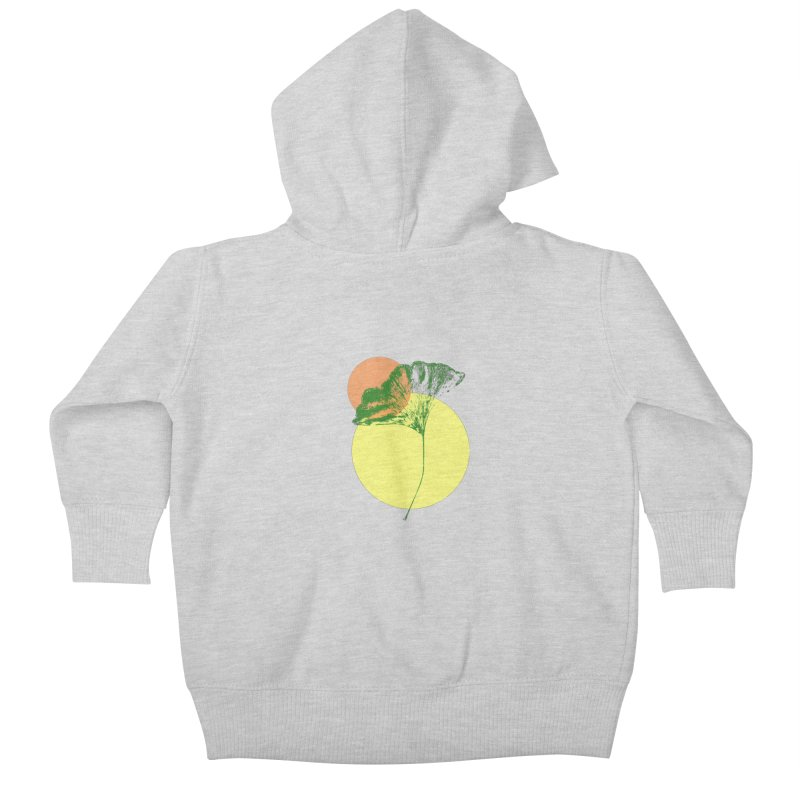 Ginkgo Leaf #3 Kids Baby Zip-Up Hoody by LadyBaigStudio's Artist Shop