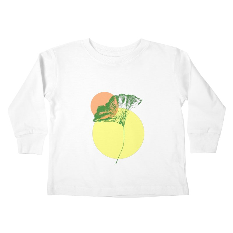 Ginkgo Leaf #3 Kids Toddler Longsleeve T-Shirt by LadyBaigStudio's Artist Shop