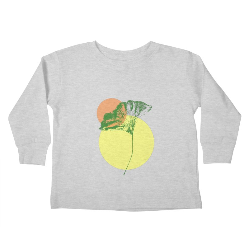Ginkgo Leaf #3 Kids Toddler Longsleeve T-Shirt by LadyBaigStudio's Artist Shop
