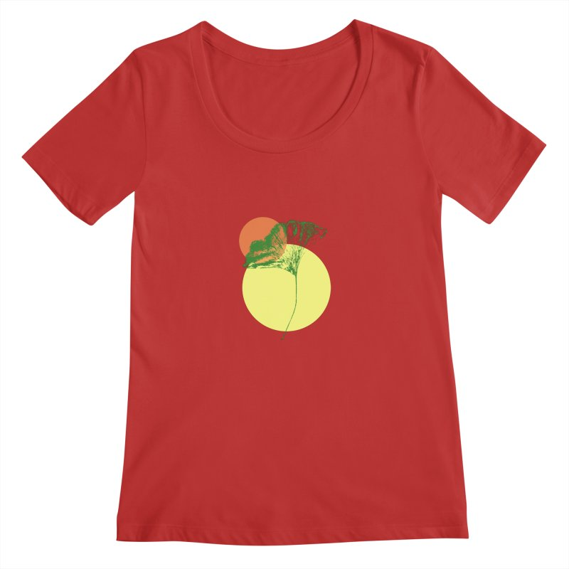Ginkgo Leaf #3 Women's Regular Scoop Neck by LadyBaigStudio's Artist Shop