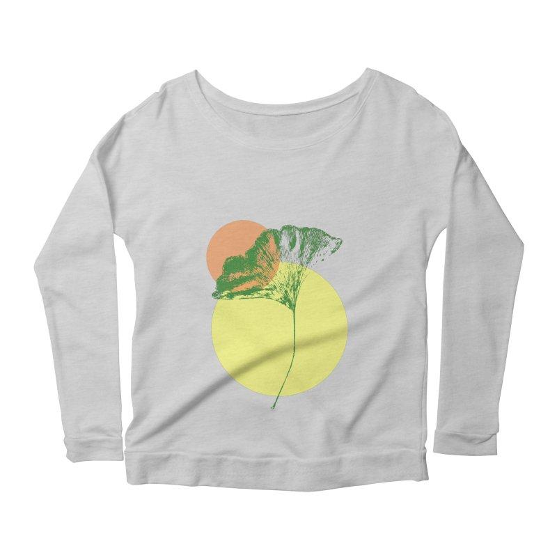 Ginkgo Leaf #3 Women's Scoop Neck Longsleeve T-Shirt by LadyBaigStudio's Artist Shop