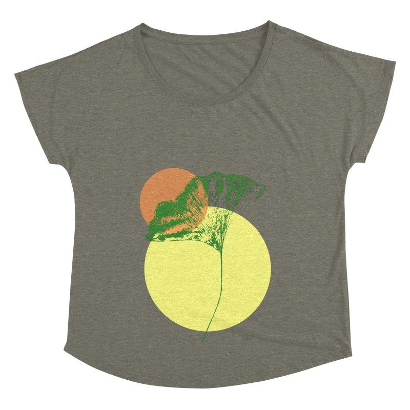 Ginkgo Leaf #3 Women's Dolman Scoop Neck by LadyBaigStudio's Artist Shop