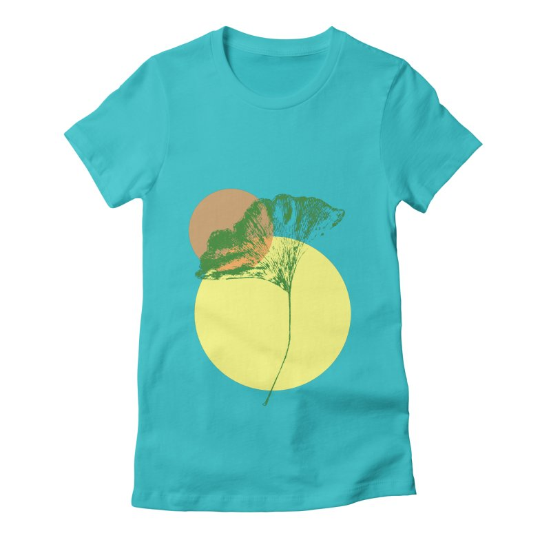 Ginkgo Leaf #3 Women's Fitted T-Shirt by LadyBaigStudio's Artist Shop