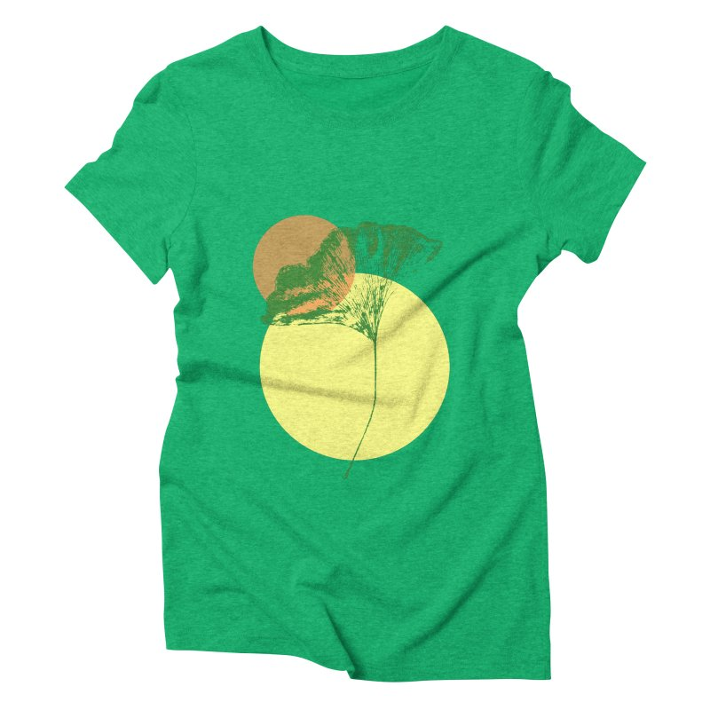 Ginkgo Leaf #3 Women's Triblend T-Shirt by LadyBaigStudio's Artist Shop