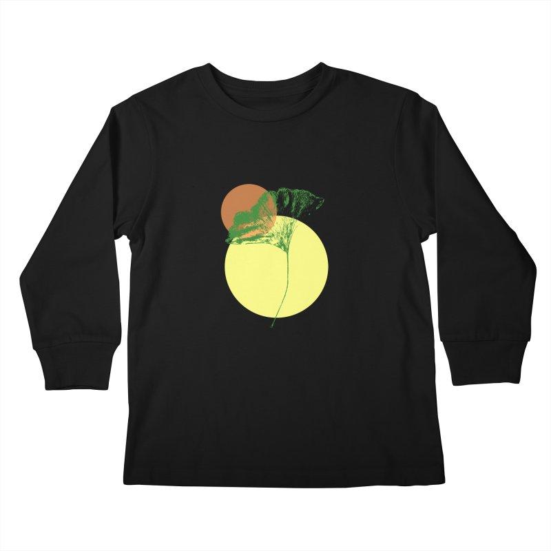 Ginkgo Leaf #3 Kids Longsleeve T-Shirt by LadyBaigStudio's Artist Shop