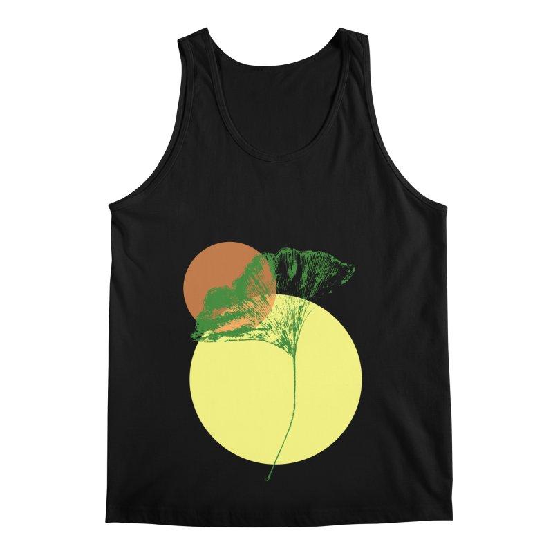 Ginkgo Leaf #3 Men's Regular Tank by LadyBaigStudio's Artist Shop