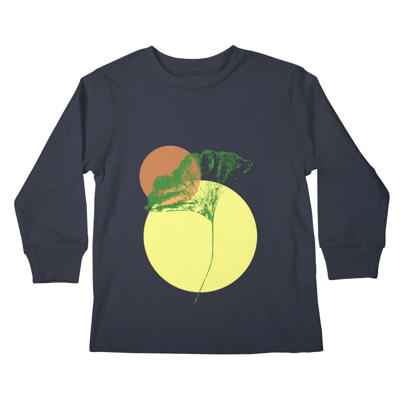 Ginkgo Leaf #3 Kids Longsleeve T-Shirt by LadyBaigStudio's Artist Shop