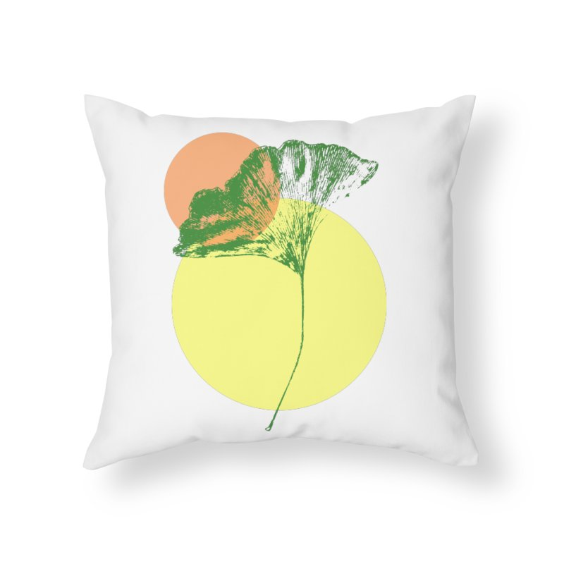 Ginkgo Leaf #3 Home Throw Pillow by LadyBaigStudio's Artist Shop
