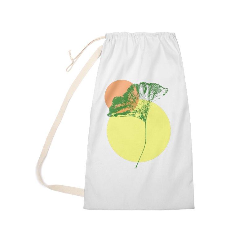 Ginkgo Leaf #3 Accessories Bag by LadyBaigStudio's Artist Shop
